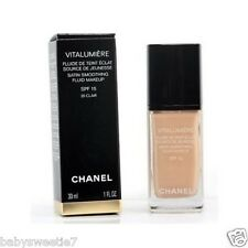 Chanel VITALUMIERE SATIN SMOOTHING FLUID MAKEUP #20 Clair SPF 15 30ml