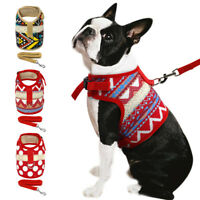 Mesh Padded Dog Harness and Leash Pet Puppy Cat Adjustable Vest Chihuahua Yorkie