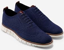 Cole Haan Zerogrand Stitchlite Wingtip Oxford Marine Blue Shoes C24947 All sizes
