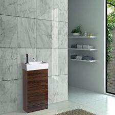 Enki Meuble Mitigeur Sous-vasque bois de Noyer pour lavabo Zébré