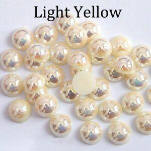 Imitation Pearl Beads Flat Back Bead Half Round Scrapbook Decor Jewelry Making
