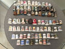 Thimbles Collection 84 really interesting assorted thimbles