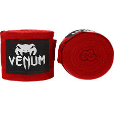 Venum Kontact Boxing Hand Wraps 4M Stretch Sparring Tape Muay Thai MMA Red