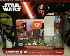DISNEY STAR WARS CHEW BACCA C-3PO R2-D2 YODA AREA FLOOR RUG CARPET~NEW~PIC FRAME