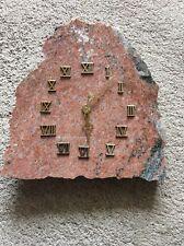 Pendule sur plaque de marbre Décoratif vintage (1)