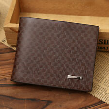 Fashion Mens Quilted PU Leather Wallet Pocket Card Clutch ID Credit Bifold Purse