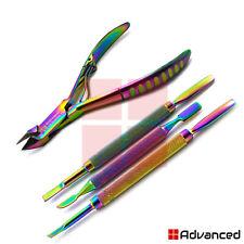 Multi Cuticle Pusher Spoon Nail Clipper Nipper Cutter Titanium Coated Nail Art