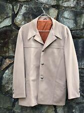 1950s Vintage Rockabilly Jacket Men's Size Large 44 Rayon & Satin Horn Buttons