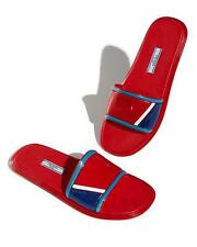 PRADA Sport Slide Sandal Slipper Rubber 1XX344 Red White Blue Size 38.5 8.5