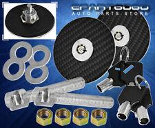 Black Jdm Real Carbon Surface Racing Hood Lock Down Pin + Keys Is250 Is300 Is350