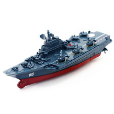 2.4GHz Remote Control Ship Aircraft Carrier RC Boat Warship Toy Gift Dark Blue
