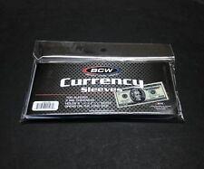 100 Regular Dollar Bill Currency Sleeves - Money Holders- Protectors - Brand New