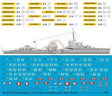 Peddinghaus 1/700 German Destroyer Z11 - Z22 Markings WWII / Peacetime 3272