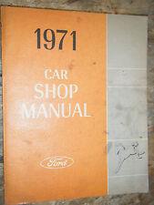 1971 FORD PINTO WAGON RUNABOUT ORIGINAL FACTORY SHOP MANUAL REPAIR SERVICE