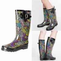 SheSole Women's Rain Boots Gumboots Waterproof Rubber Wellington Wellies