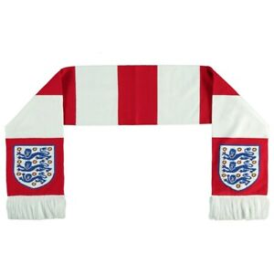 England Football Bar Scarf - White/Red - New