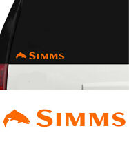 Simms Fishing Outdoor Sports Trout Vinyl Decal Sticker Window Cooler Orange B