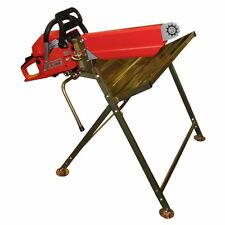 Log Saw Horse Holder RocwooD Folding Metal With Pivoting Chainsaw Clamp