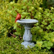 Cardinal Bird Bath Fairy cottage Home Garden Craft Décor