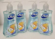 Dial Liquid Hydrating Hand Soap Coconut Water & Mango Lot of 4 - 7.5 oz Each NEW