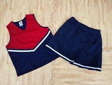 NEW S/M Red White Blue Cheerleader Uniform Top Skirt 34-36/24-28 Ole Miss Texans