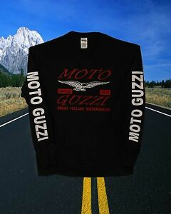 Moto Guzzi SWEATSHIRT  with  ARM LETTERING
