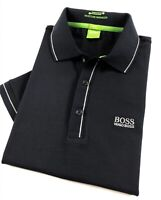 Hugo Boss Polo Shirt Men's Paule Moisture Manager Black Slim Fit 50277329