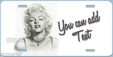 MARILYN MONROE  License Plate, can be personalized  Made in USA