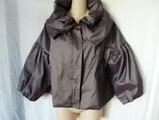 SAMUEL DONG TIERED RUFFLED COLLAR FULLY LINED JACKET M/L