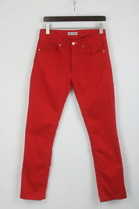 ACNE JEANS MIX RED Men's W31/L32 Stretch Polyester Blend Slim Trousers 26752-JS