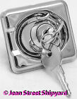 Boat Marine Stainless Locking Lift Ring Hatch or Cabinet Pull Latch & Keys 35511