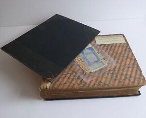 EDWARDIAN 1903-1913 ALBUM BRITISH/FRENCH THEATRE SCRAPS ART NOUVEAU/WATERCOLOURS
