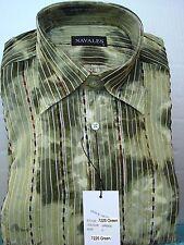Men's Island Dress Shirt for Dancers - Brown Long Sleeve