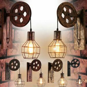 Vintage Industrial Retro Loft Weel Iron Ceiling retro wall lamp Pendant Light