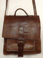 Rugged Design Handmade Raw Tan Leather Briefcase Messenger Travel Bag Morocco