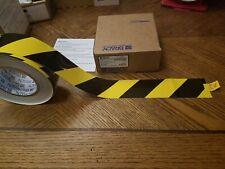 Brady Toughstripe Floor Marking Tape, 2 In X 100 Ft, Black/Yellow 104317