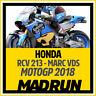 Kit Adesivi Honda RCV 213 Marc VDS MotoGP 2018 - High Quality Decals