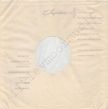 """Vintage INNER SLEEVE or SLEEVES 12"""" USE EMITEX MADE ENGLAND thin no PATENTS x 1"""