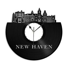 New Haven Ct Vinyl Wall Clock City Vintage Gift for Office Home Room Decoration