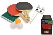 NEW M.Y TABLE TENNIS PING PONG SET 2 BATS 3 BALLS NET POLE SET FUN SPORTS INDOOR