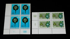 U.N,GENEVA #32-33, 1973, ISSUES. INSCRIPTION BLKS/4, NICE!! LQQK!!