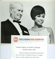 DIAHANN CARROLL MAURICE CHEVALIER ABC STAGE '67 C'EST LA VIE 1967 ABC TV PHOTO