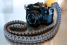 NEW GRAY PARACORD CAMERA NECK STRAP DSLR MIRRORLESS CANON SONY NIKON FUJI 48""