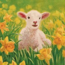 2 single paper napkins for Decoupage Crafts or Collection Animals Lamb Sheep