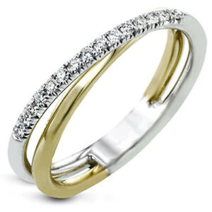 1.44 TCW Round Moissanite Eternity Engagement Ring 14k Multi-Tone Gold Plated