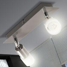 LED 6W Spot beweglich Decken Lampe Leuchte Glas Wohnzimmer 2-flammig Strahler
