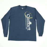 Carhartt Work T-Shirt MEDIUM Nicely Faded Black Long Sleeve Grunge Skate Punk