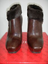 GUESS Ivorie Faux-Fur Dark Brown Women's 6.5M with 4.5 to 5 Inches Heels