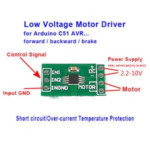 3.3v 5v Mini DC Motor Driver Controller Board Module Reversible Brake F Arduino