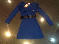 NUOVA CON ETICHETTA Juicy Couture & le ragazze di età 8 Blue Abito Cotone Logo